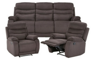 Jackson 3 Seat Sofa+2 Single Recliners