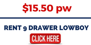 RENT 9 DRAWER LOWBOY