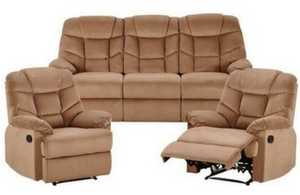 Webster 3 Seat Sofa+2 Single Recliners