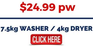 7.5kg WASHER 4kg DRYER FOR RENT
