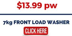 7kg FRONT LOAD WASHER FOR RENT