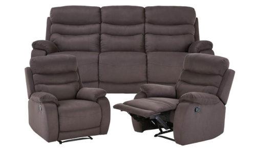 Rent Jackson 3 Seat Sofa+2 Single Recliners Set