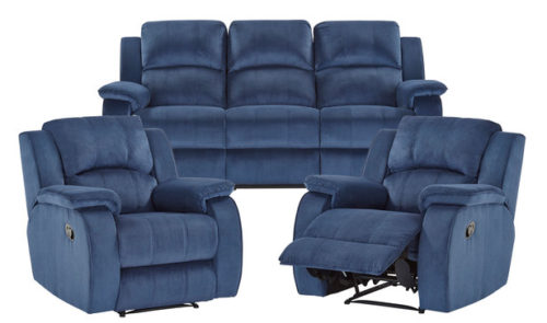 Rent Venice 3 Seat Recline Sofa With 2 Reclining Seats+2 Single Recliners
