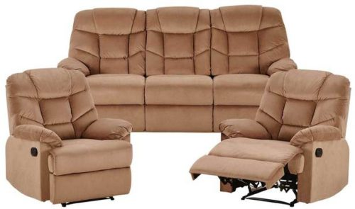Rent Webster 3 Seat Sofa +2 Single Recliners