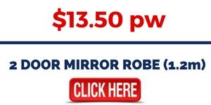 2 DOOR MIRROR ROBE (1.2m)
