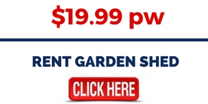 RENT 3M X 3M GARDEN SHED