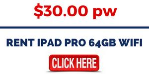 RENT IPAD PRO 64GB WIFI
