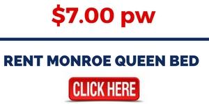 RENT MONROE QUEEN BED