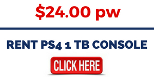 RENT PS4 1 TB CONSOLE