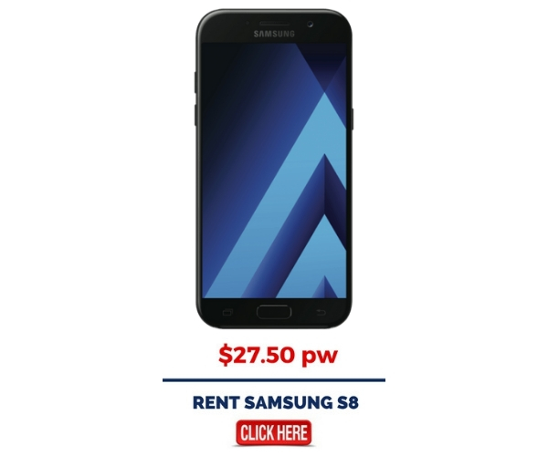 Rent Samsung Galaxy S8 Mobile Phone from $27.50 pw