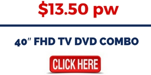 40 FHD TV DVD COMBO FOR RENT