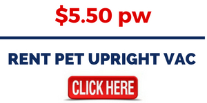RENT PET UPRIGHT VAC