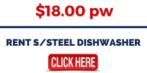 RENT SSTEEL DISHWASHER