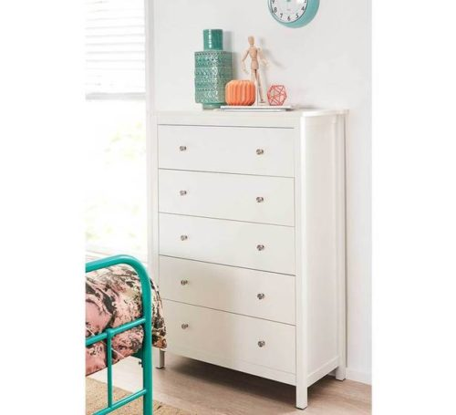 Rent Hayman 5 Drawer White Tallboy