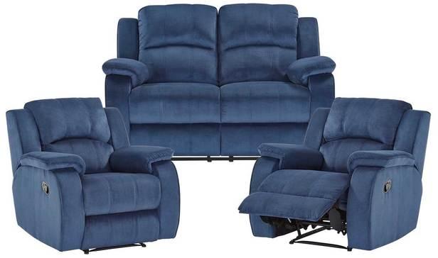 Rent Venice 2 Seat Recline Sofa+2 Single Recliners