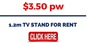 RENT ENTERTAINMENT UNITS FURNITURE - 1.2m TV STAND FOR RENT