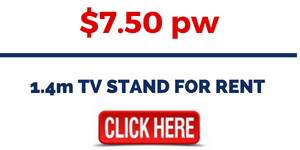 RENT ENTERTAINMENT UNITS FURNITURE - 1.4m TV STAND FOR RENT