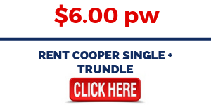 Rent Cooper Single + Trundle